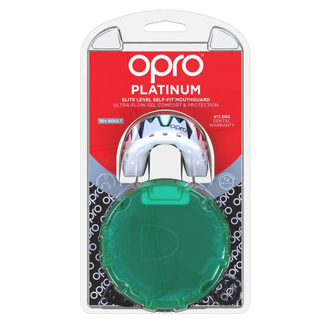 Opro Mouthguard Self-fit Gen 4 Platinum Fangz - White/Mint/Black