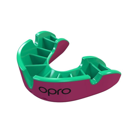 Opro Mouthguard Self-fit Gen 4 Silver - Pink/Green