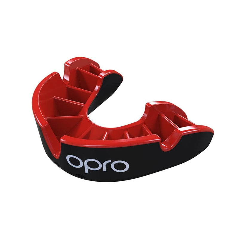 Opro Mouthguard Self-fit Gen 4 Silver - Black/Red