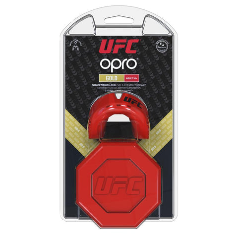 Opro Mouthguard Self-Fit UFC Gold - Red/Silver