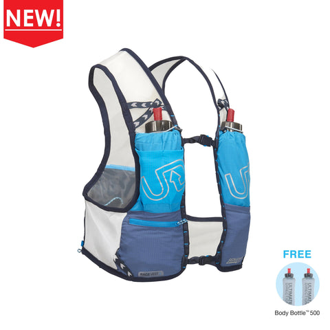 Ultimate Direction Race Vest 4.0 (Signature Blue) + 6 FREE SiS GO Isotonic Energy Gels