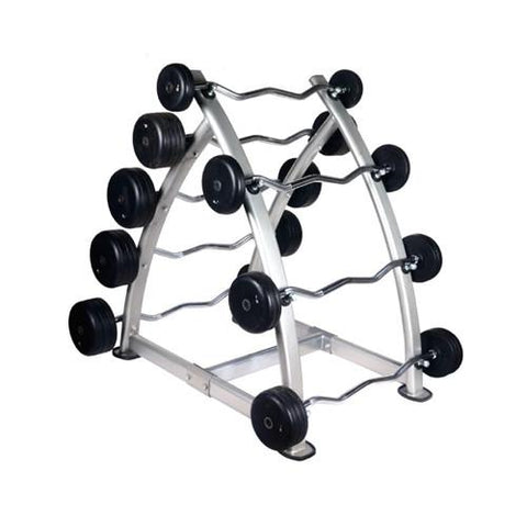 Fitness & Athletics Barbell Rack with Rubber Barbell Set