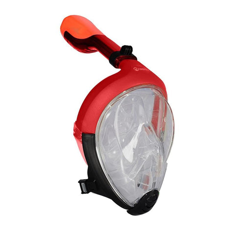 Oceantric Full Face Snorkeling Set - Red (Adult)