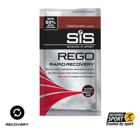 50% OFF SiS REGO Rapid Recovery 50g (Sold in Sachets of 6)  - Chocolate