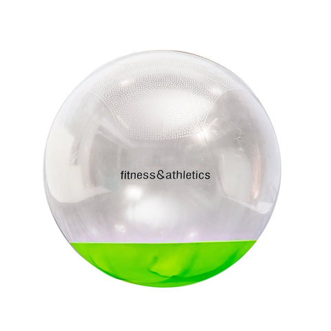 Fitness & Athletics Stay Ball Clear/Green - 65cm