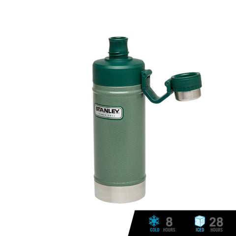 Stanley Classic Vacuum Water Bottle 18oz / 530ml - Hammertone Green