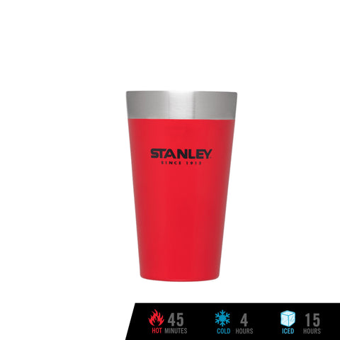 Adventure Vacuum Insulated Stacking Pint 16 oz / 473 ml - Flannel Red