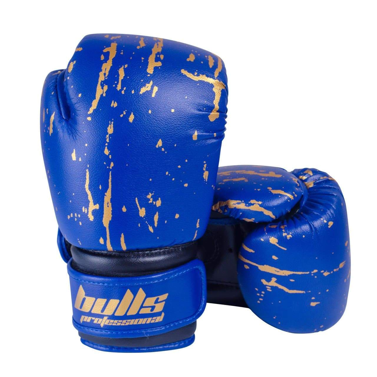Bulls Professional Action Boxing Gloves - Blue/Black
