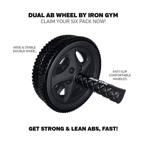 Iron Gym Dual AB Wheel
