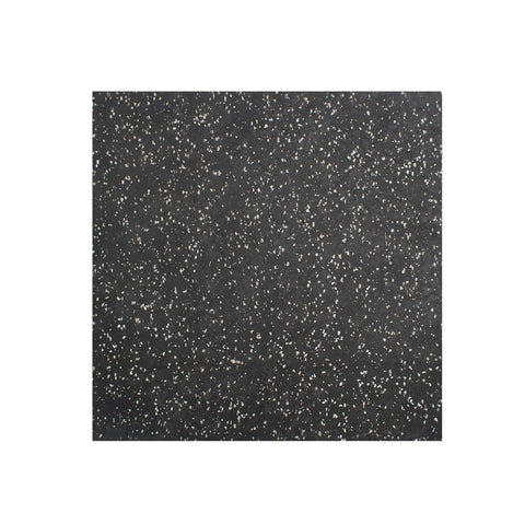 Element Fitness Rubber Flooring Tiles 20mm - Black with White Speckles  (4 tiles per sqm w/ free 4 locking parts)