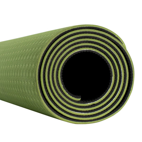 Fitness & Athletics Premium Yoga Mat - Green/Black