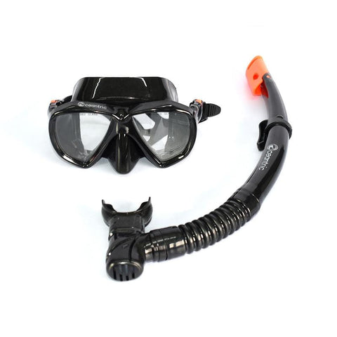 Oceantric Snorkeling Set - Black (Adult)