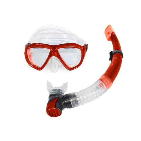 Oceantric Snorkeling Set - Red (Adult)