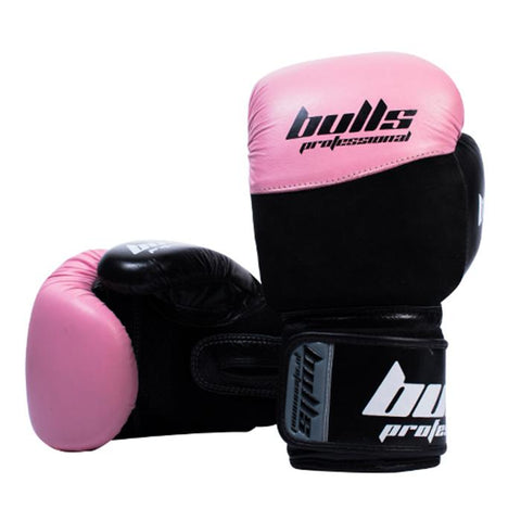 Bulls Professional Elite Boxing Gloves - Pink/Black