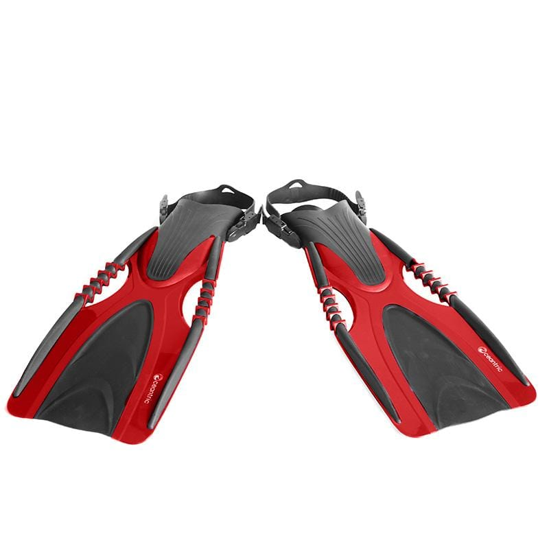 Oceantric Diving Fins - Red