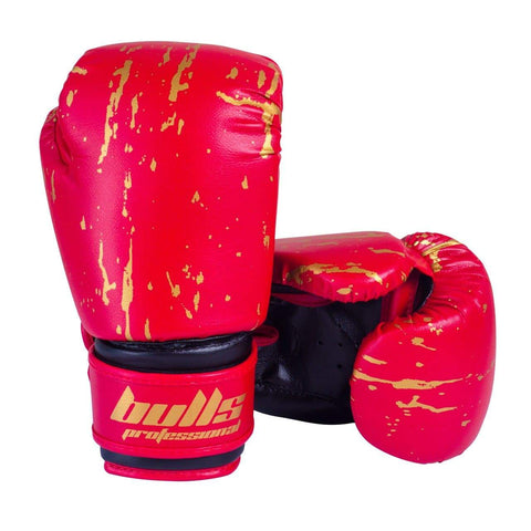 Bulls Professional Action Boxing Gloves - Red/Black