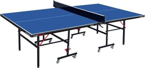 Stiga Club Roller Ping Pong Table with Net, Post, and Stiga Scenic Racket Set