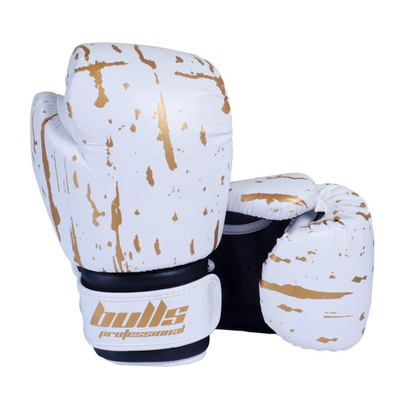 Bulls Professional Action Boxing Gloves - White/Black