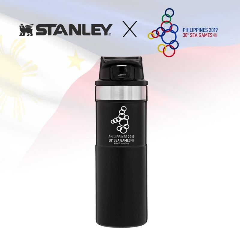 Stanley Trigger-Action Travel Mug 16oz / 473ml - Matte Black (Stanley x 2019 SEA Games)