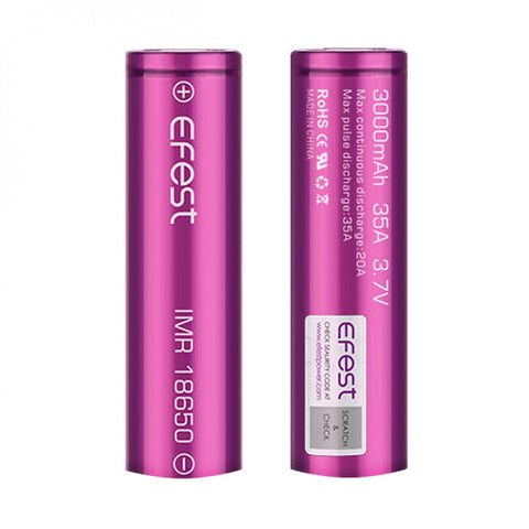 Efest 3000mAh New 35A Battery  (Tear Resistant Wrap)
