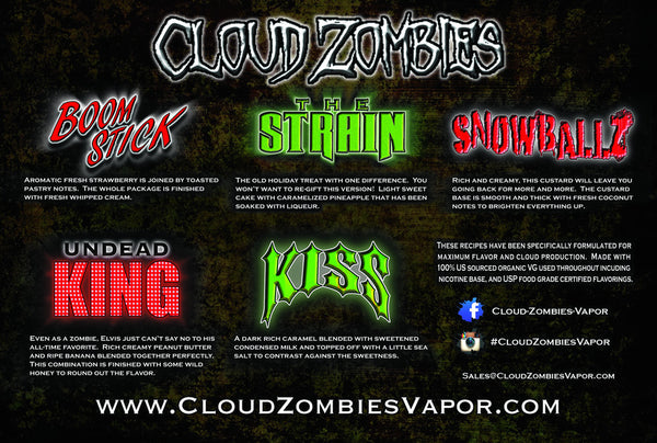 Cloud Zombie The Strain (Pineapple Cake, Liquer)