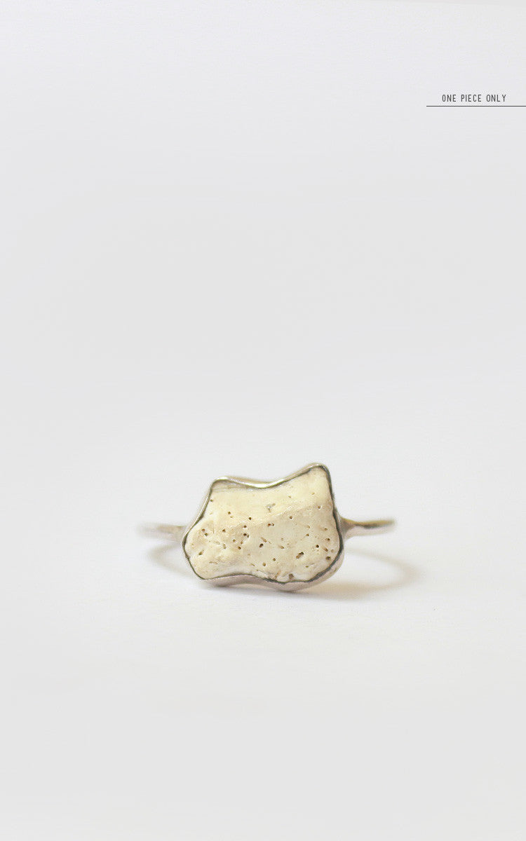 White Flake Ring