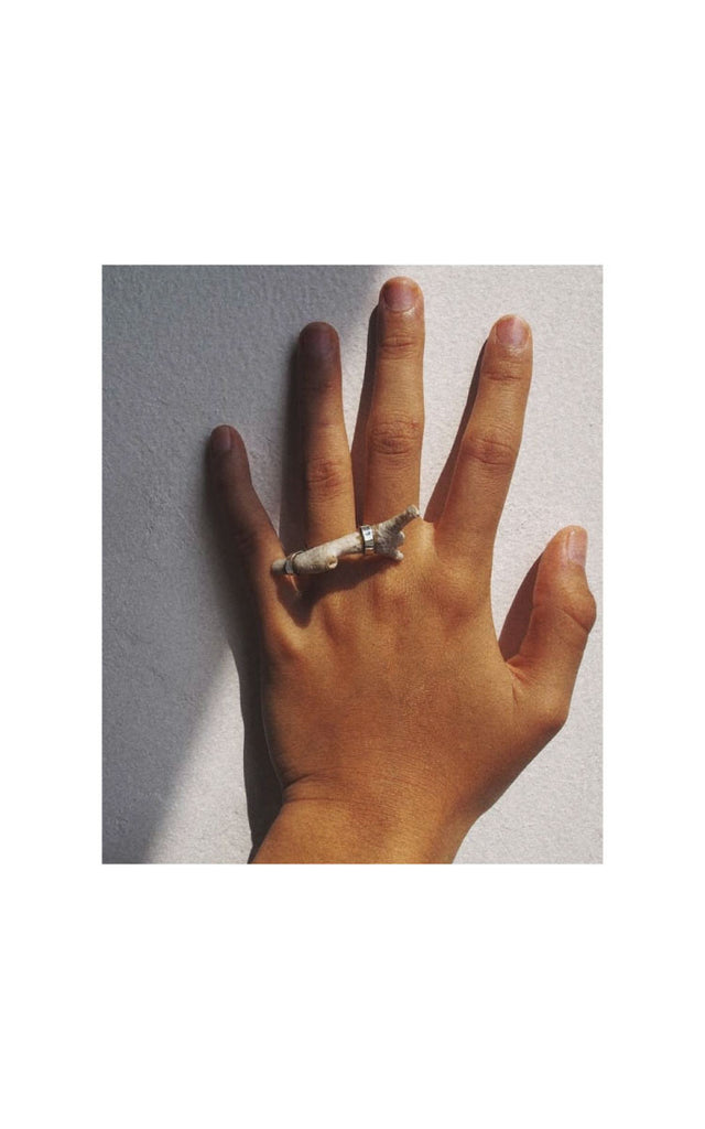 White Twig Ring