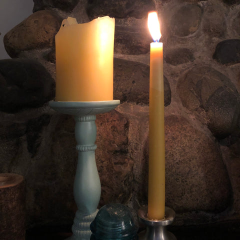 Beeswax Taper Candle (pair)