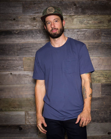 Brixton | Vital Pocket Tee | Blue