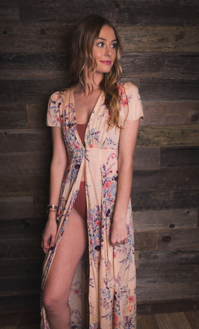 Free People | Paradise Printed Maxi Slip | Rome Red Combo