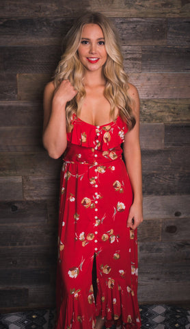 Kivari | Romance Maxi Dress | Romance Red