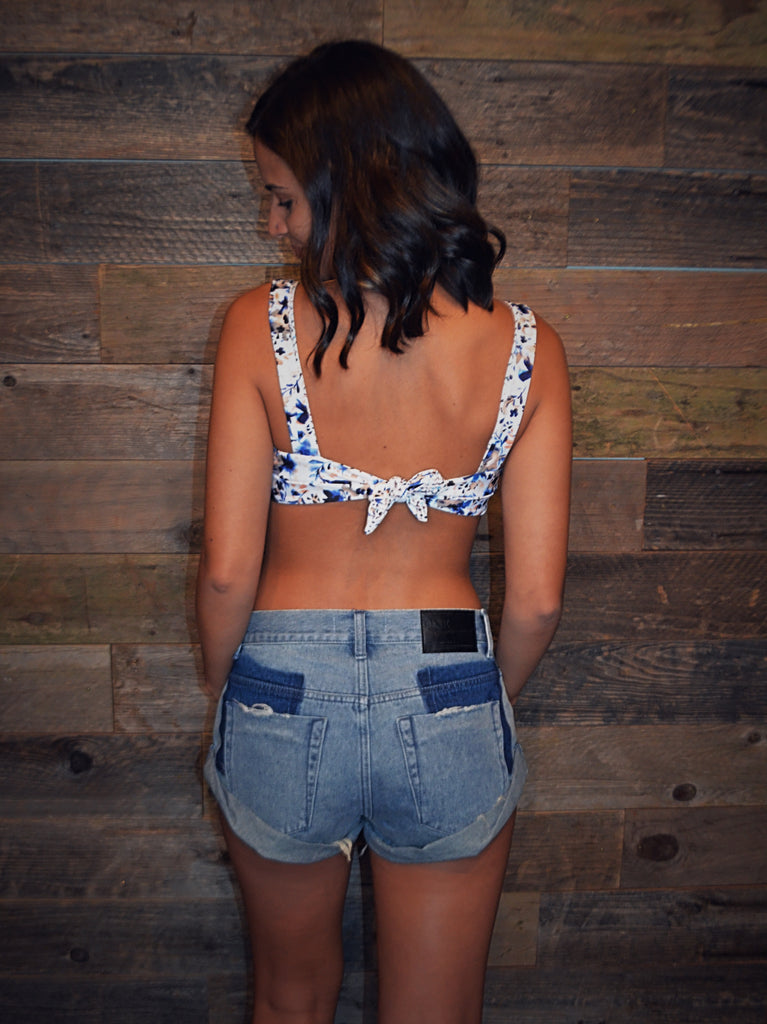 One Teaspoon | Bandits Denim Shorts | Blue Storm
