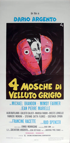 FOUR FLIES ON GREY VELVET - Italian locadina poster