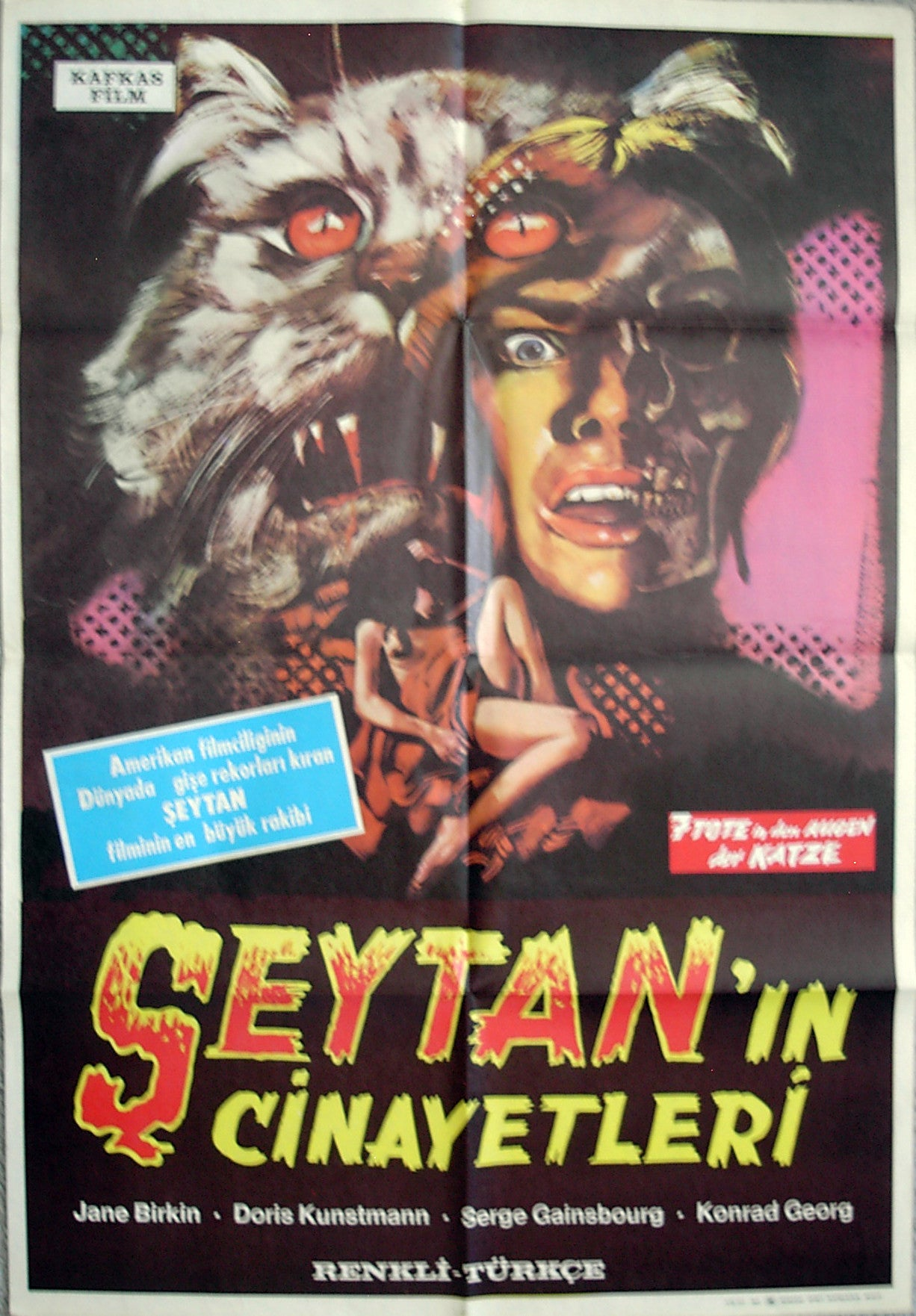 SEVEN DEATH'S IN THE CAT'S EYE - Turkish poster