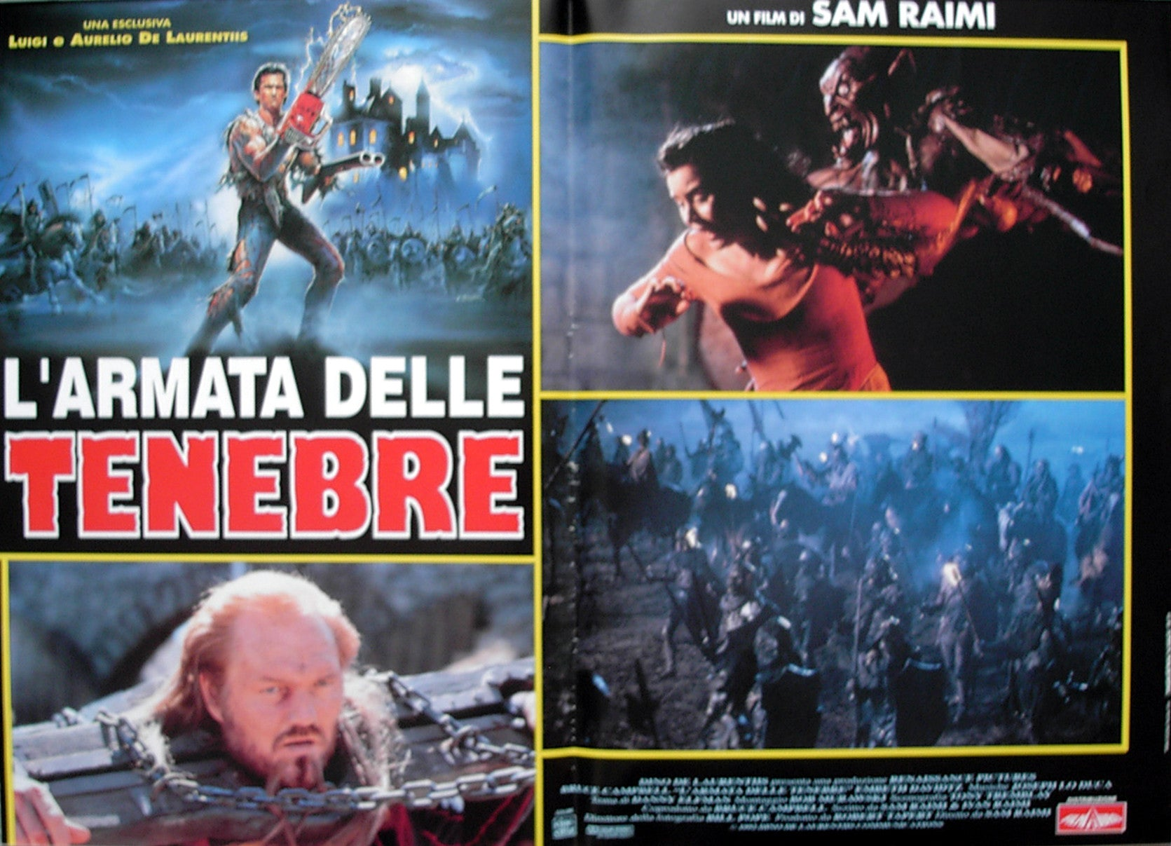 ARMY OF DARKNESS - Italian photobusta poster v2