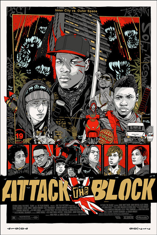ATTACK THE BLOCK (variant) by Tyler Stout