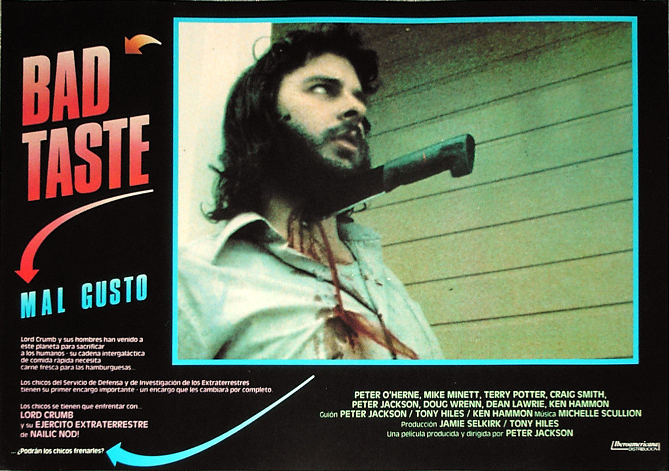 BAD TASTE - Spanish lobby card v2