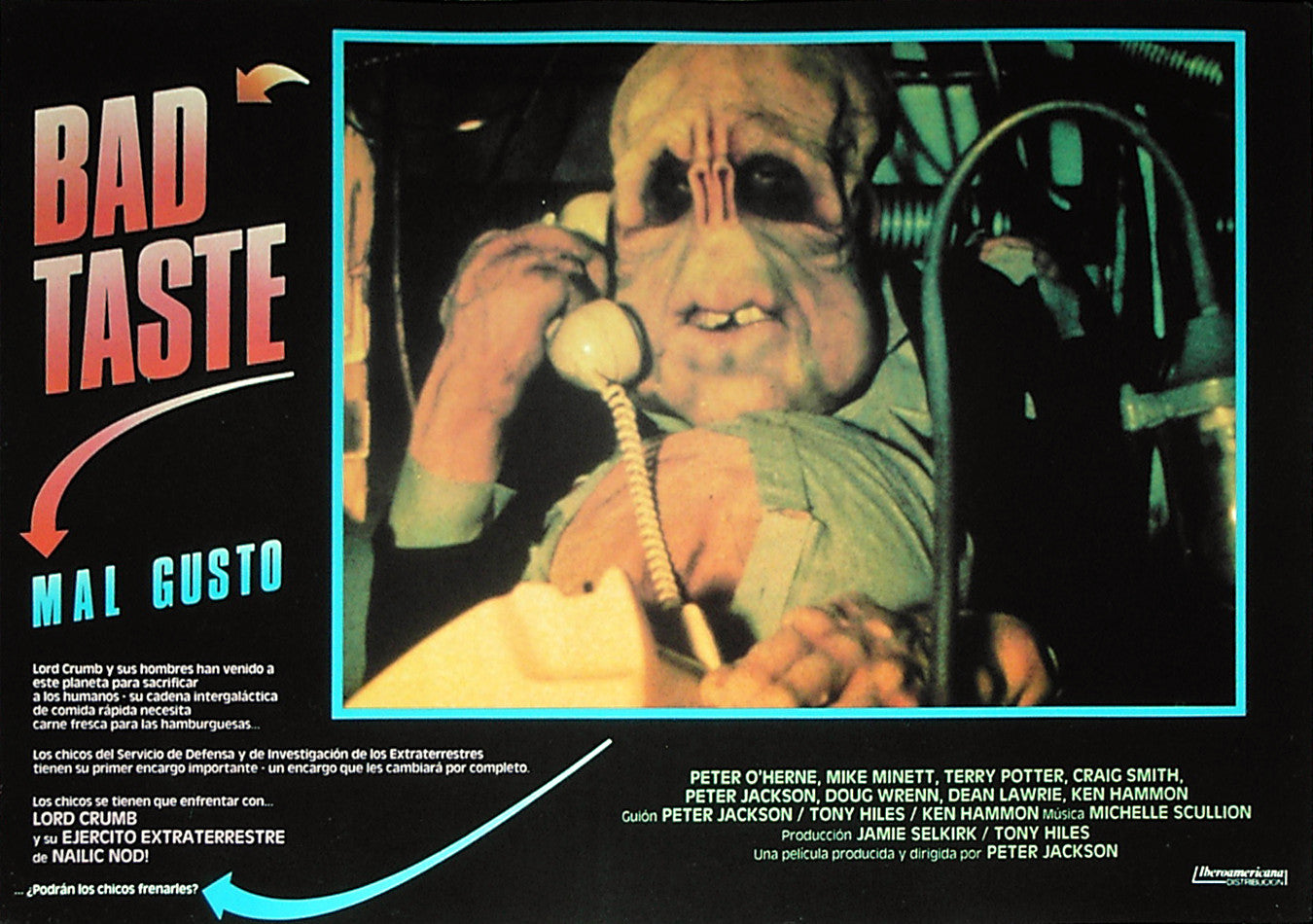 BAD TASTE - Spanish lobby card v3