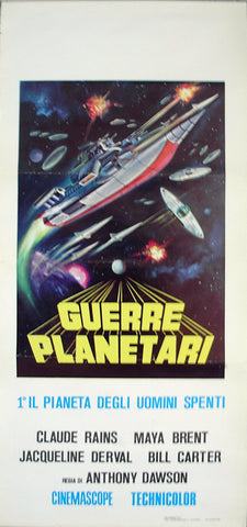 BATTLE OF THE WORLDS - Italian locadina poster