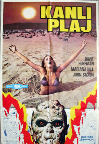 BLOOD BEACH - Turkish poster