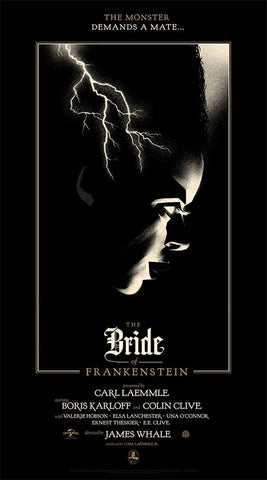 BRIDE OF FRANKENSTEIN, THE by Olly Moss