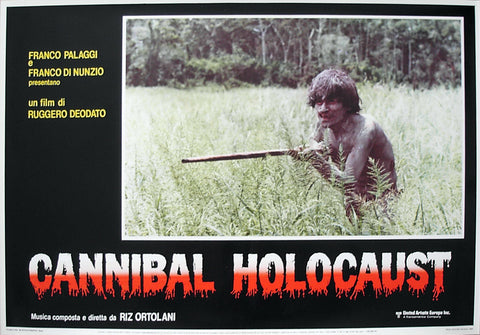 CANNIBAL HOLOCAUST - Italian photobusta poster v2