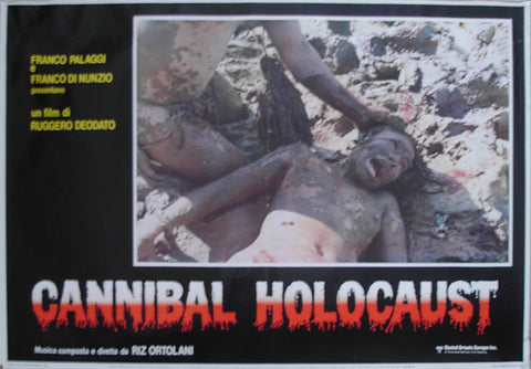 CANNIBAL HOLOCAUST - Italian photobusta poster v1