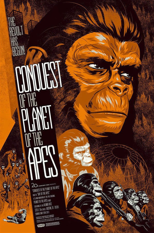CONQUEST OF THE PLANET OF THE APES (variant) by Phantom City Creative