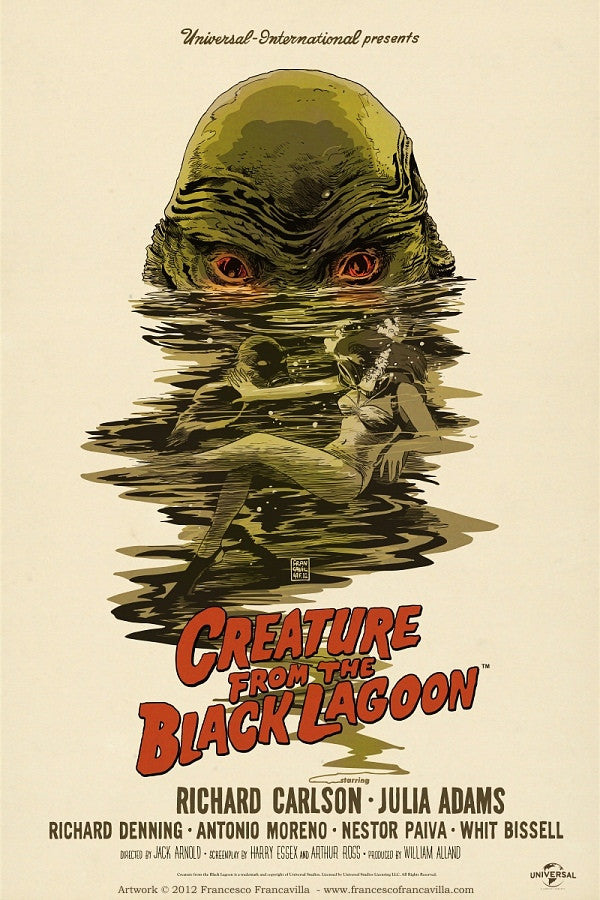 CREATURE FROM THE BLACK LAGOON by Francesco Francavilla