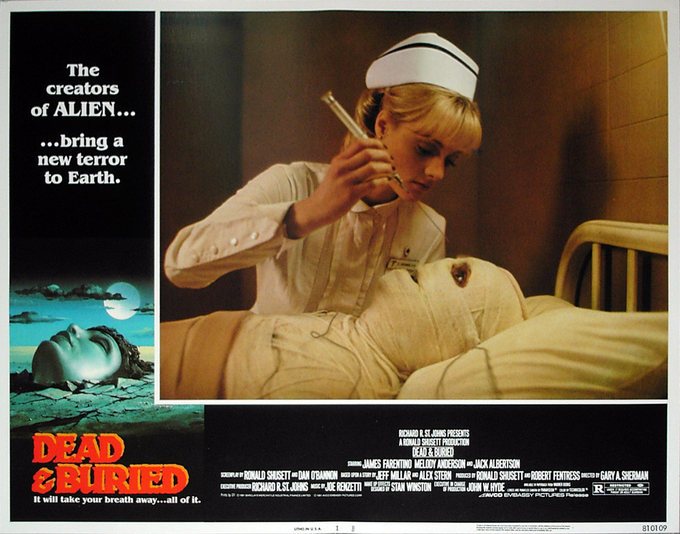 DEAD & BURIED - US lobby card v1