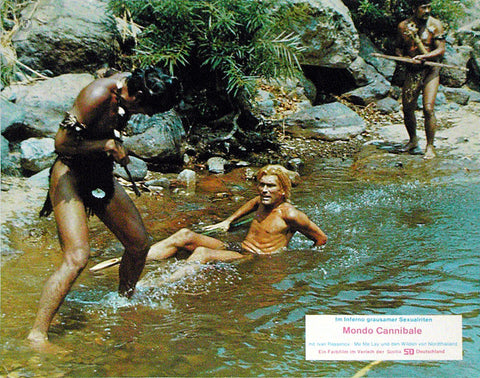DEEP RIVER SAVAGES - German lobby card v2