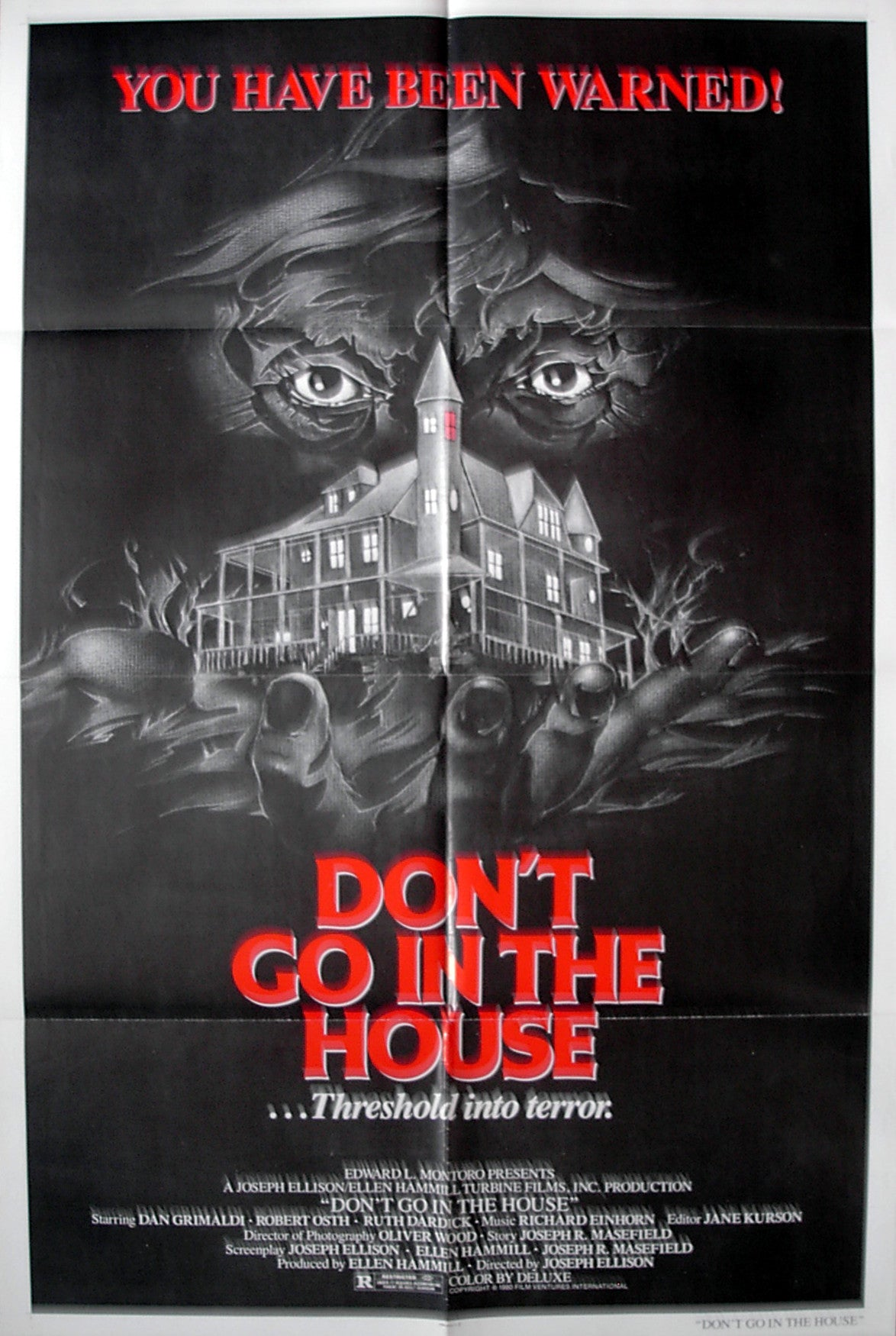 DON'T GO INTO THE HOUSE - US one-sheet poster