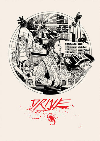 DRIVE letterpress by Tyler Stout