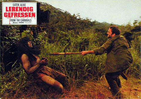 EATEN ALIVE! - German lobby card v03